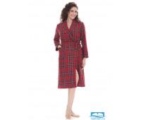 Теплый женский халат с шерстью B&B B&B_Edy red Красный 56