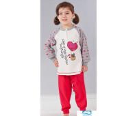 Теплая пижама из хлопка для девочек Stella Due Gi В5721 Красный