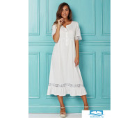 Стильная ночная рубашка свободного фасона Manam M_8455 Кремовый