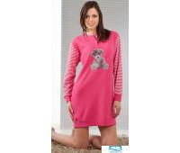 Яркое молодежное платье для дома Stella Due Gi D5781 Малиновый