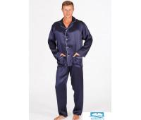 Шелковая мужская пижама B&B B&B_U501-Herman Темно-синий 50
