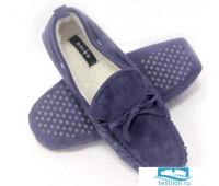 Тапочки домашние синие с шнурком Doing Sander blue Синий 40-41