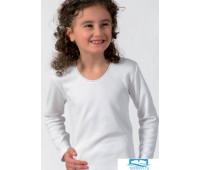 Теплая фуфайка для девочек Snelly Snelly_4045 Белый 7-8 лет