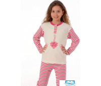 Утепленная пижамка для девочки Snelly Snelly_40032 panna/fuxia