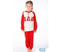 Яркая пижама для девочки с мишками Snelly Snelly_40026 rosso
