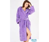 Длинный халат из велюровой махры свободного покроя Baci &