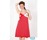 Яркое домашнее платье на тонких бретельках Stella Due Gi D3024