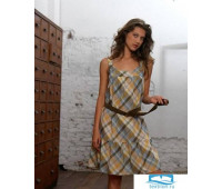 Хлопковое платье для дома с поясом Rebecca & Bross. R&B_3944