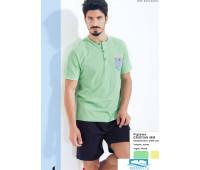 Яркий мужской комплект для дома Twisi Twisi_Cristian Зеленый 48