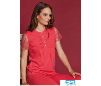 Яркая женская пижама с коротким рукавом Vilfram V_9226 Красный