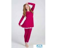 Яркая пижама из вискозы Vilfram V_9577 Малиновый 50