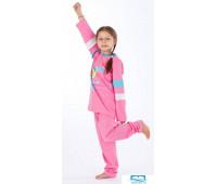 Хлопковая пижама для девочек Eclisse C2195 Розовый 4 года