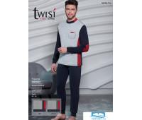 Хлопковый мужской комплект для дома Twisi Twisi_Danilo Синий 56