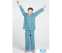 Хлопковая пижама для мальчика в классическом стиле Allegrino