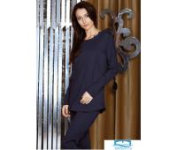 Темно-синяя женская пижама из натурального хлопка Manam M_8969