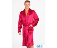 Шелковый мужской халат B&B B&B_1501 Бордовый 60