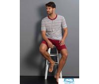 Яркая пижама с шортами для мужчин You365 Y_73059 Бордовый 58