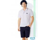 Футболка-поло с удлиненными шортами Twisi Twisi_Henry Белый 52