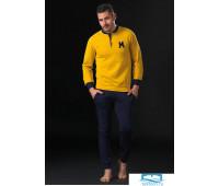 Хлопковый домашний костюм с яркой кофтой Manam MU_9024 Желтый