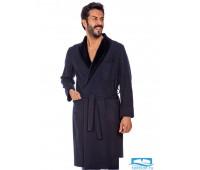 Шикарный мужской халат с бархатным воротником B&B B&B_Liberia-V