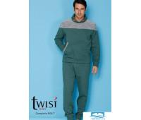Трикотажный мужской домашний костюм Twisi Twisi_Bolt Зеленый 52