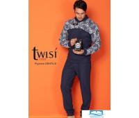 Стильный мужской костюм для дома синего цвета Twisi