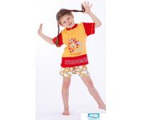 Яркая футболка и шорты с сердечками для девочки Eclisse C2193