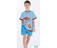 Шорты и футболка для дома яркого бирюзового цвета Stella Due Gi