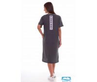 4-61а (антрацит-меланж) Платье женское 4-61а (антрацит-меланж)