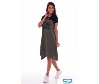 4-63а (хаки-меланж) Платье женское 4-63а (хаки-меланж), шт, 52