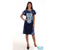 3-115а (голубой) Платье женское 3-115а (голубой), шт, 58