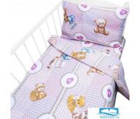 Постельное белье в детскую кроватку 8257/1 Пуговка с простыней