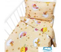 Постельное белье в детскую кроватку 4098/1 Облачко желтый с