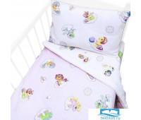 Постельное белье в детскую кроватку 5030/1 Бусинка розовый с