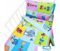 Постельное белье в детскую кроватку 5037/2 Забавный счет с
