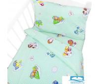 Постельное белье в детскую кроватку 5030/1 Бусинка зеленый с