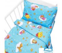 Постельное белье в детскую кроватку 4098/2 Облачко голубой с