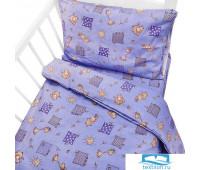 Постельное белье в детскую кроватку 366/5 Жирафики фиолетовый с