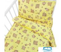 Постельное белье в детскую кроватку 366/4 Жирафики желтый ГОСТ