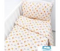Постельное белье в детскую кроватку 5318/2 Малыши цвет бежевый