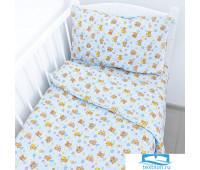 Постельное белье в детскую кроватку 5325/1 Мишка на луне