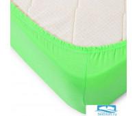 Простыня трикотажная на резинке цвет зеленый 180/200/20 см