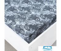 Простыня трикотажная на резинке цвет узоры7 120/200/20 см