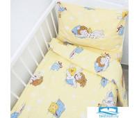 Постельное белье в детскую кроватку 92611 бязь ГОСТ с простыней