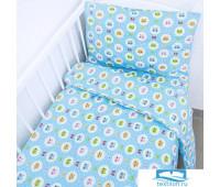 Постельное белье в детскую кроватку 92222 бязь ГОСТ с простыней