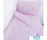 Постельное белье в детскую кроватку 92221 бязь ГОСТ с простыней