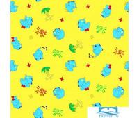 Пелёнка Ночь Нежна Добрый слон (желт.) 5137-4 Фланель 75х120