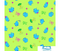 Пелёнка Ночь Нежна Добрый слон (зелен.) 5137-3 Фланель 75х120