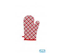Прихватка-рукавичка  Мари Санна Клетка (красн.) 9266-2 стёганая