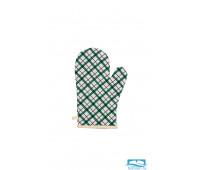 Прихватка-рукавичка  Мари Санна Клетка (зелен.) 9266-1 стёганая